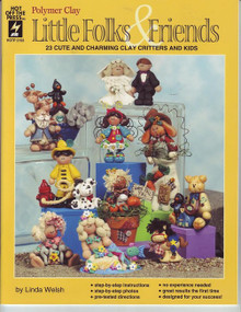 Little Folks & Friends NEW Polymer Clay OOP Book NEW LOWER PRICE
