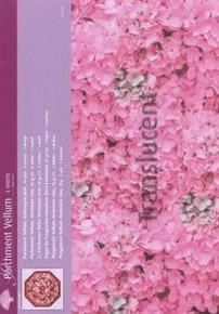 5pcs Parchment Vellum- hydrangea PINK Pergamano