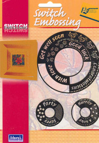 Switch Embossing Stencils Circles Words Card Making