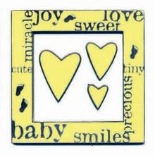 Karen Foster Design Enamel Frames & Doodads Yellow Baby