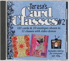 Teresa's Card Classes #2 HOTP 1510  CD Video Demonstrations for 131 Cards