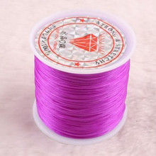 100m .5mm Strong Stretchy beading string PURPLE elastic
