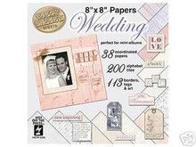 396 pc 8x8 Wedding Papers Scrapbooking Mini Albums
