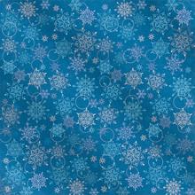 2pc FOIL 12X12 Blue w/ Snowflake Paper Pizazz HOTP