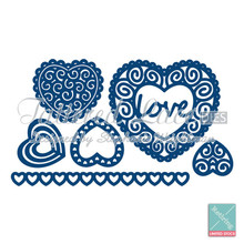 Tattered Lace - Hearts- D265 Cutting Dies