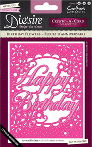 Crafter's Companion Die'sire Birthday Flowers Create-a-Card DS-CADUS-BDFLOW Collection Cutting Dies