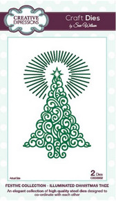 Sue Wilson Craft Dies Festive Collection Illuminated Christmas Tree CED3002