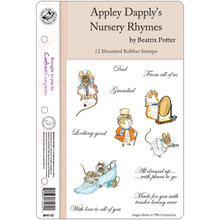 Beatrix Potter EZMount Stamp Set - 5.5'X8.5'-Apply Dapply's Nursery Rhymes