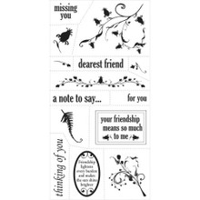 Fiskars 01-002264 Heidi Grace 4-by-8-Inch Clear Stamps, For You
