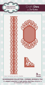 CED4202 - SCANDANAVIAN COLLECTION - CORNER, BORDER & TAGS