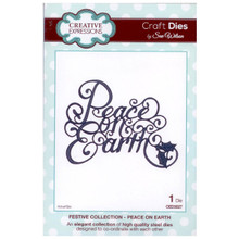Craft Die CED3027 Sue Wilson Festive Collection - Peace On Earth