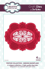 Craft Die CED3023 Sue Wilson Festive Collection - Deboss Snowflake