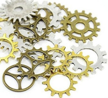Metal Art Embellishments Gears Approx 50-pc Gears in Variety of Colors Sizes and Styles Gears Perfect for Steampunk