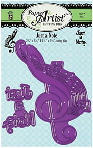 HOTP Paper Artist Just A Note Cutting Dies HOTP5347 Set of Two