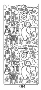 Peel-Offs Marie Eve Animals 4396 Gold Peel Stickers