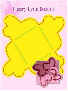 "Cheery Lynn Design Heart Note Holder- Folds to 2x2"" - Cutting Die"