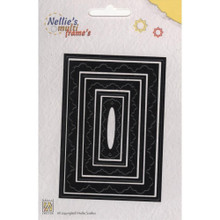 Nellie's Choice Multi Frame Dies - MFD014 Rectangle 3 Nested Dies