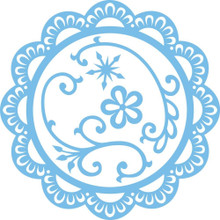 Marianne Design Creatables Dies, Scallop Circle Frame and Flowers
