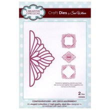 Craft Die CED6304 Sue Wilson Configurations Collection - Art Deco Adornment