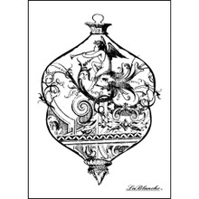 LaBlanche Silicone Stamp, 3.75 by 2.75-Inch, Intricate Glass Ornament
