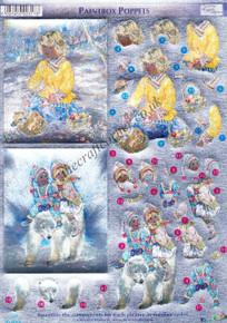 Dufex 3-D Papier Tole Paintbox Poppets 248818 Die-Cut Paper Decoupage