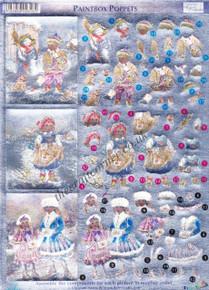 Dufex 3-D Papier Tole Paintbox Poppets 248817 Die-Cut Paper Decoupage