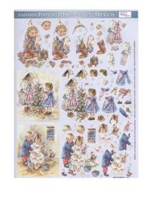 Dufex 3-D Papier Tole Paintbox Poppets 248812 Die-Cut Paper Decoupage