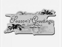 Stampendous, Cling Rubber Stamp, Season's Greetings Post Mark