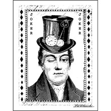 LaBlanche Silicone Stamp, 2.75 by 3.75-Inch, Joker