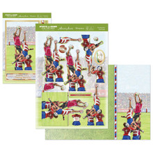 Hunkydory Sports & Games Have a Scrummy Day Deco-Large Set GAME1905