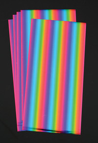 Deco Foil Rainbow for Paper & Fabric  - 5 Transfer Sheets - by Thermoweb