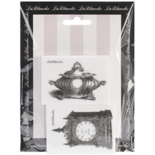 LaBlanche Silicone Stamps, 4.75 by 6.5-Inch, Standing Clock