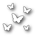 Poppystamps 100% Steel Die Butterfly Sprinkles 1528