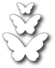 Poppystamps 100% Steel Die Emelia Butterfly Trio 1389