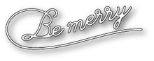Poppystamps 100% Steel Die Be Merry Flourish 1480