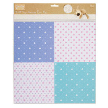 "Self-Adhesive Fabric Paper Mini Flowers 12x12""  - 1 Sheet"