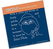 Groovi Twas the Night 06 St Nick - Laser Etched Acrylic for Parchment Craft