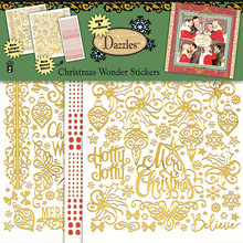 HOTP Dazzles HOTP2838 Christmas Wonder GOLD Scrapbooking Stickers