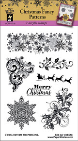 HOTP Christmas Fancy Patterns Rubber Stamps 1219 Unmounted