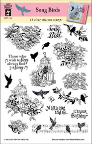 HOTP Song Birds Rubber Stamps 1199 Unmounted