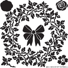 Hot Off the Press Vinery Wreath 6x6 Stencil