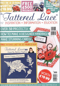 Tattered lace Magazine Issue 32 with free CD & 3 Dies!