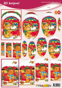 Find it Trading 3-D Pyramid Bears Scissor-Cut Images 2146