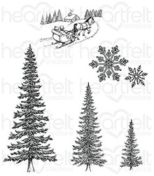 Heartfelt Creations Snow Kissed - Snow Kissed Spruce stamps