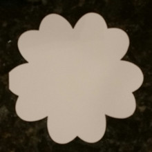 Hunkydory 6x6  White Double Petal Flower Shape Card Blanks and Envelopes 5-sets