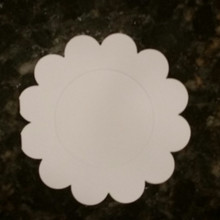 Hunkydory 6x6  White 12 Petal Flower Shape Card Blanks with Center Opening and Envelopes 5-sets