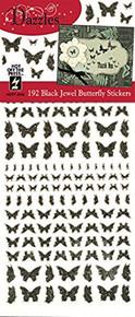 Dazzles Black Jewel Butterflies HOTP2546 192 Holographic Butterflies Per Sheet