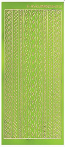 Dazzles Lime Jewel Border Stickers HOTP2562