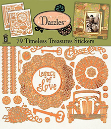 Dazzles Timeless Treasures Scrapbooking Stickers HOTP2839