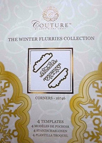 Create and Craft Couture Winter Flurries Collection Corners 16746